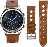 SmartphoneClip Leren bandje - Samsung Galaxy Watch (46mm)/Gear S3 - bruin