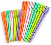 Stopnaalden - plastic stop naald mixed kleuren - 20 stuks