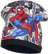 Spiderman fleece muts zwart voor jongens 54 cm (6-8 jr)