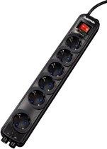 Hama 6 voudige contactdoos overspanningsbeveiliging TV