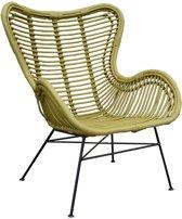 Mosterdgele Rotan Vlinderstoel - 70x76xH90 cm