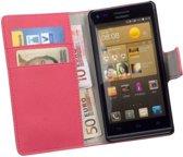 HC Bookcase Roze Flip Wallet Telefoonhoesje Huawei Ascend G6