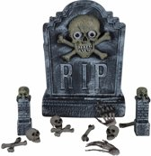 Halloween - Decoratie kerkhof set  12 delig
