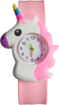 Fako® - Kinderhorloge - Slap On Mini - Eenhoorn - Roze