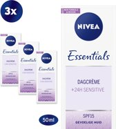 NIVEA Essentials Sensitive Dagcrème - SPF 15 - 3 x 50 ml