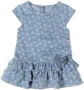 Babybol meisjes bloemen jurkje jeans look - 68