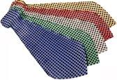 Disco stropdas voor volwassenen - Verkleedattribuut - Rood