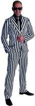 Maffia Kostuum | Hele Brede Krijtstreep | Man | Extra Small | Carnaval kostuum | Verkleedkleding