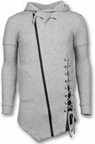Enos Casual Vest - Long Fit Braided Vest - Grijs - Maten: L