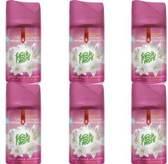 6x Fresh & More Luchtverfrisser Smooth Satin & Moon Lily 250ml