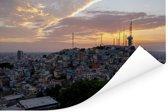 Schitterende zonsondergang in de Ecuadoraanse stad Guayaquil Poster 180x120 cm - Foto print op Poster (wanddecoratie woonkamer / slaapkamer) XXL / Groot formaat!