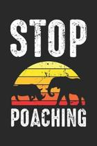 Stop Poaching: Elephant Rhino African Sunset Dot Grid Journal, Diary, Notebook 6 x 9 inches with 120 Pages