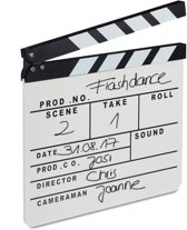 relaxdays Filmklap wit - filmklapper - voor filmfans - movie clapper board - clapboard