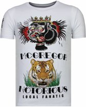 Local Fanatic McGregor Tattoo - Rhinestone T-shirt - Wit - Maten: XXL