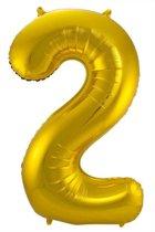 Gouden Folieballon Cijfer 2 - 86 cm