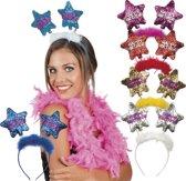 24 stuks: Tiara Star - Happy Birthday in 6 kleuren - assorti
