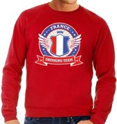 Rood France drinking team sweater heren 2XL