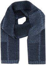 Profuomo sjaal knitted scarf navy blue_ONESIZE, maat One size
