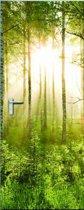 Fotobehang Forest - Deurposter - 210 x 95 cm - Groen