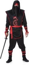 Karnival Costumes Verkleedkleding Ninja kostuum voor heren Zwart - L