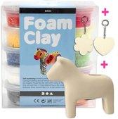 Foam Clay - Klei - Set met Spaarpot Paard en 2 Sleutelhangers