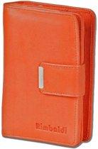 Rimbaldi Dames Portemonnee met Rits - Leer - Oranje