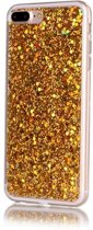 iPhone 7 Plus / iPhone 8 Plus (5.5 Inch) - hoes, cover, case - TPU - Glitters - Goudkleur