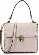 Hand- schoudertasje met studs, roze - Giuliano