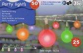 50 Gekleurde LED lampjes voor feest- en  tuinverlichting 9.8 mtr. + 5 mtr. toevoerlijn - DD-1440