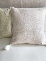 Pillow Yoga/ Holy Mandala Pink with white print