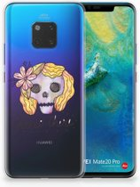 Huawei Mate 20 Pro Uniek TPU Hoesje Boho Skull