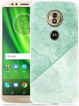 Moto G6 Play hoesje Green Marble