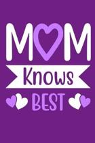 Mom Knows Best: Blank Lined Notebook Journal: Mothers Mommy Gift Journal 6x9 - 110 Blank Pages - Plain White Paper - Soft Cover Book