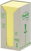 3M Post-it memoblok Recycled Tower, 76x76mm, geel, pak à 16 stuks