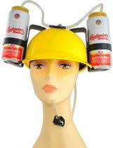 Bierhelm - Bier Drinkhelm - Carnaval Bier Helm Geel