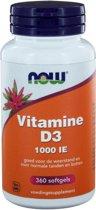 Now Foods Vitamine D3 (1000 IU) - 360 softgels