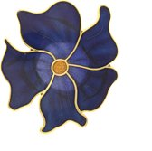 Behave®  Broche bloem blauw emaille
