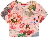 Tjabbie roze shirtje met originele urker oilily print