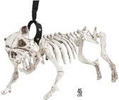 """""""Honden skelet aan riem decoratie Halloween  - Feestdecoratievoorwerp - One size"""""""