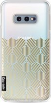 Casetastic Softcover Samsung Galaxy S10e - Golden Hexagons