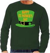 Happy St. Patricksday sweater groen heren S