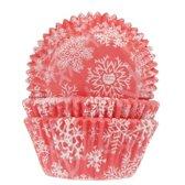 House of Marie Cupcake vormpjes Sneeuwkristal Rood pk/50