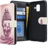 Samsung Galaxy A6 2018 hoesje - CaseBoutique - Boeddha print - Kunstleer