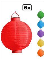 Lampion met led licht 6 assortie 20 cm