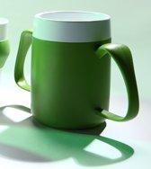 Isolerende beker met ergonomisch handvat  220 ml -2 handvatten-  groen