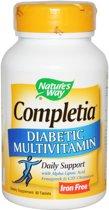 Completia diabetische multivitamine zonder ijzer (90 tabletten) - Nature's Way