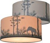 Plafondlamp kinderkamer Silhouette Safari | lamp safari print met schaduw effect