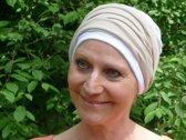 Muts chemotherapie beige met wit