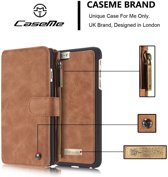 Apple iPhone 6/6s Plus Luxe Lederen Portemonnee Hoesje - uitneembare backcover(bruin)