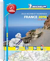 France 2016 Atlas - Laminated A4 Spiral